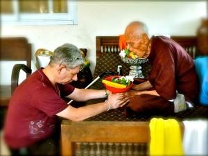 Zegening van de oude meester